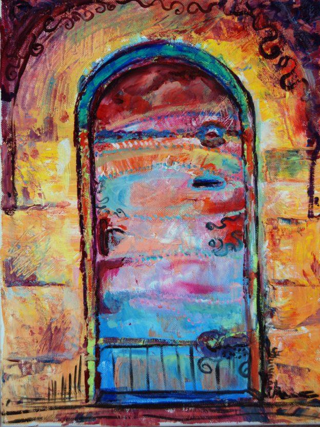 pictura in ulei intitulata poarta