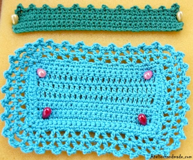 Modele de margini crosetate | Crochet Edging – Lacy V's and Picot Edging