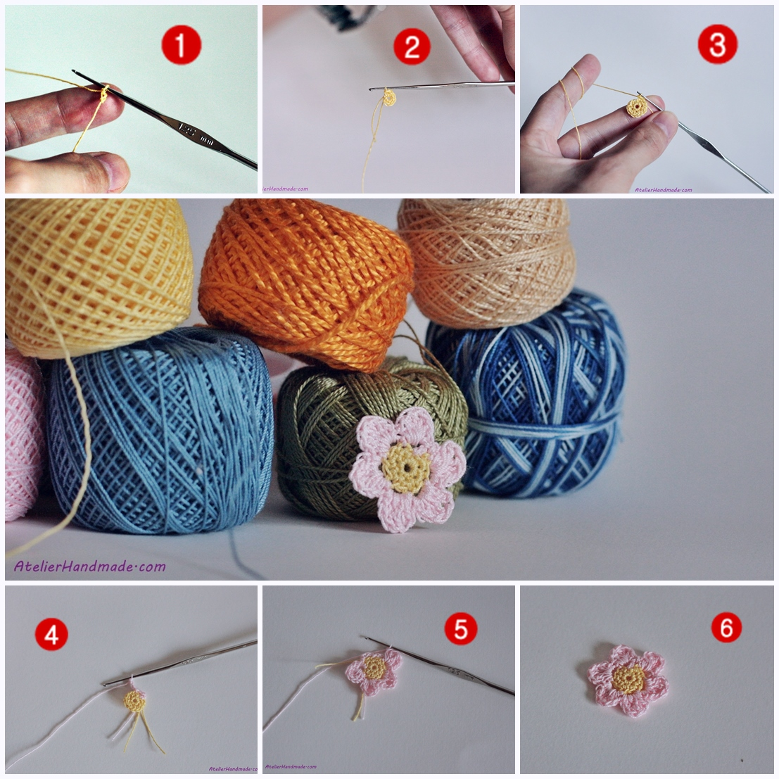 tutorial floare crosetata