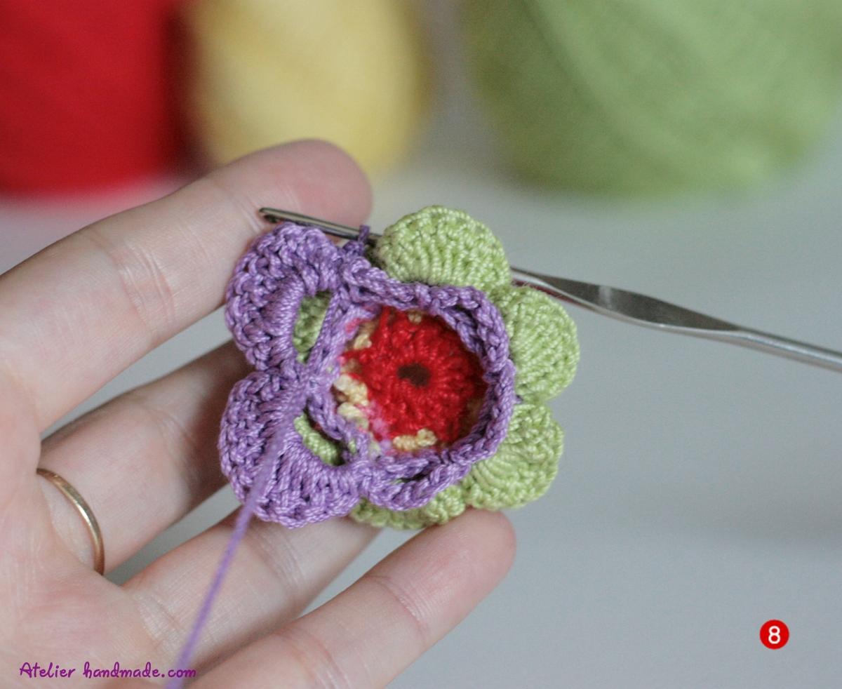 cum sa crosetezi petale de flori