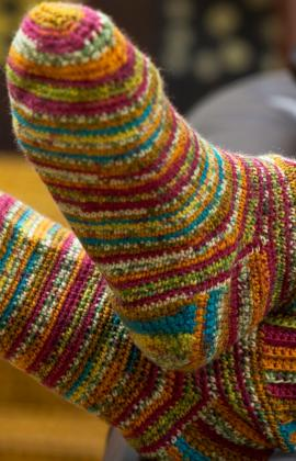 sosete de lana crosetate