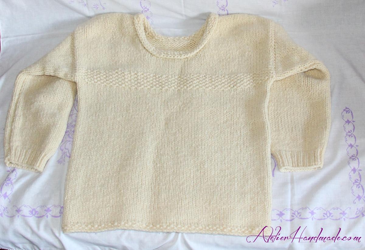 bluza-crem-tricotata
