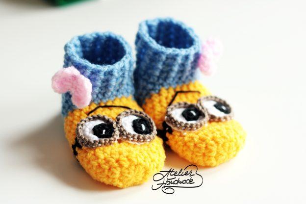 Papuci minion pentru copii – Baby minion slippers