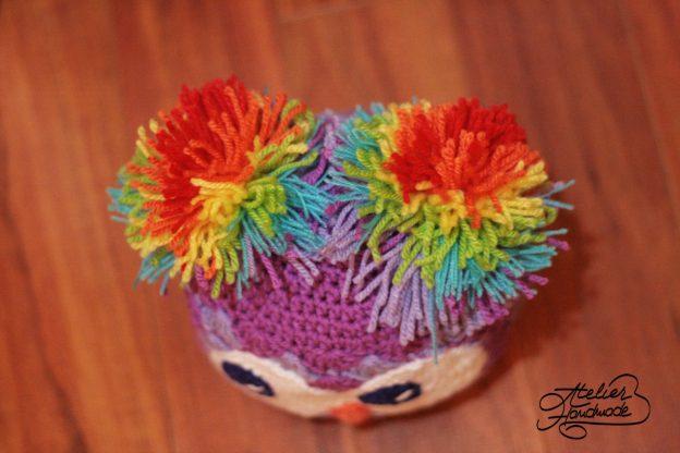 Pattern: crochet OWL Shells Beanie