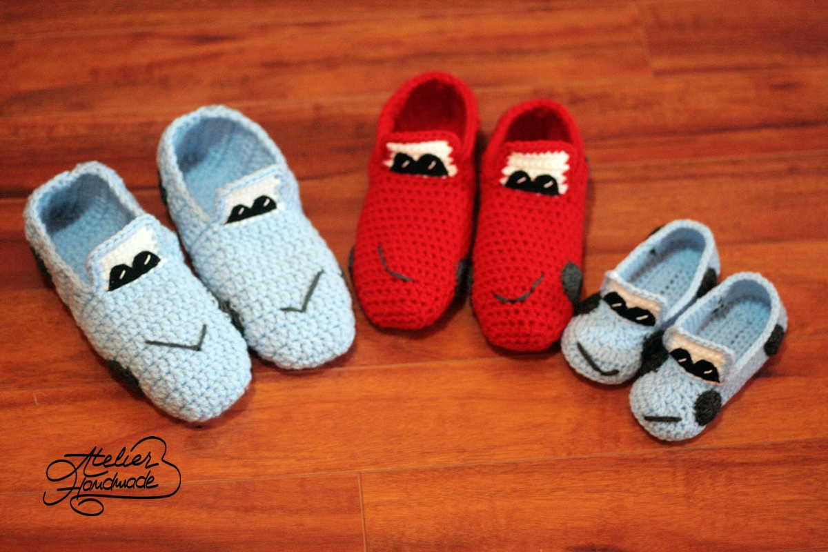 cars family slippers