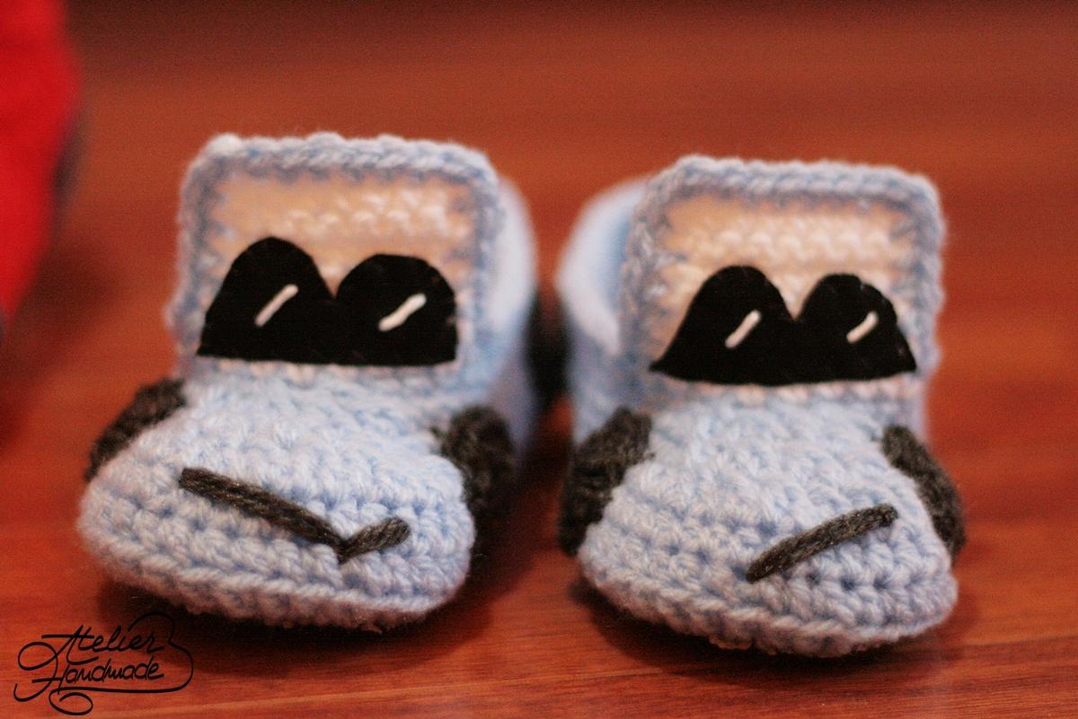 papuci-crosetati-copii-cars