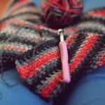 WIP: man scarf with Lana Grossa yarn
