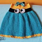 Crochet minion dress – Rochita minion crosetata