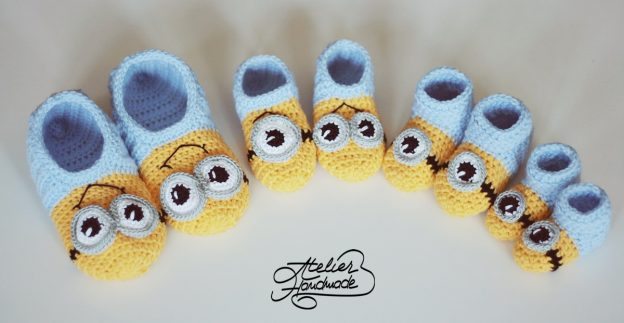 Crochet baby slippers and sandals