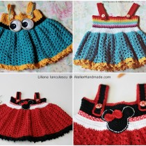 happy baby crochet dress