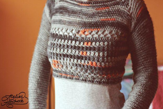 Bluza din lana Lana Grossa si Alize