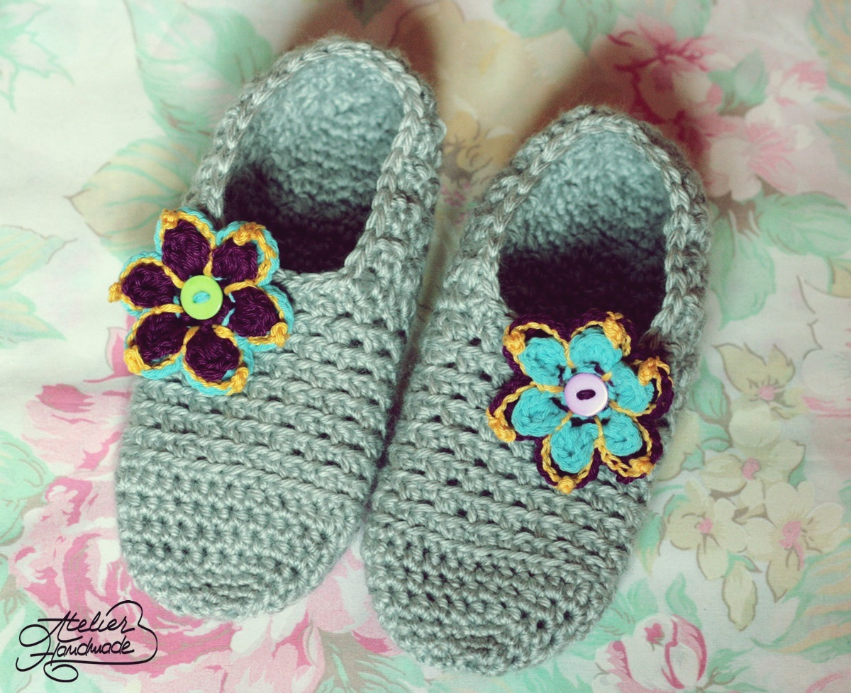 flowery slippers
