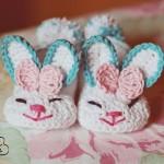 Bunny slippers – botosei crosetati