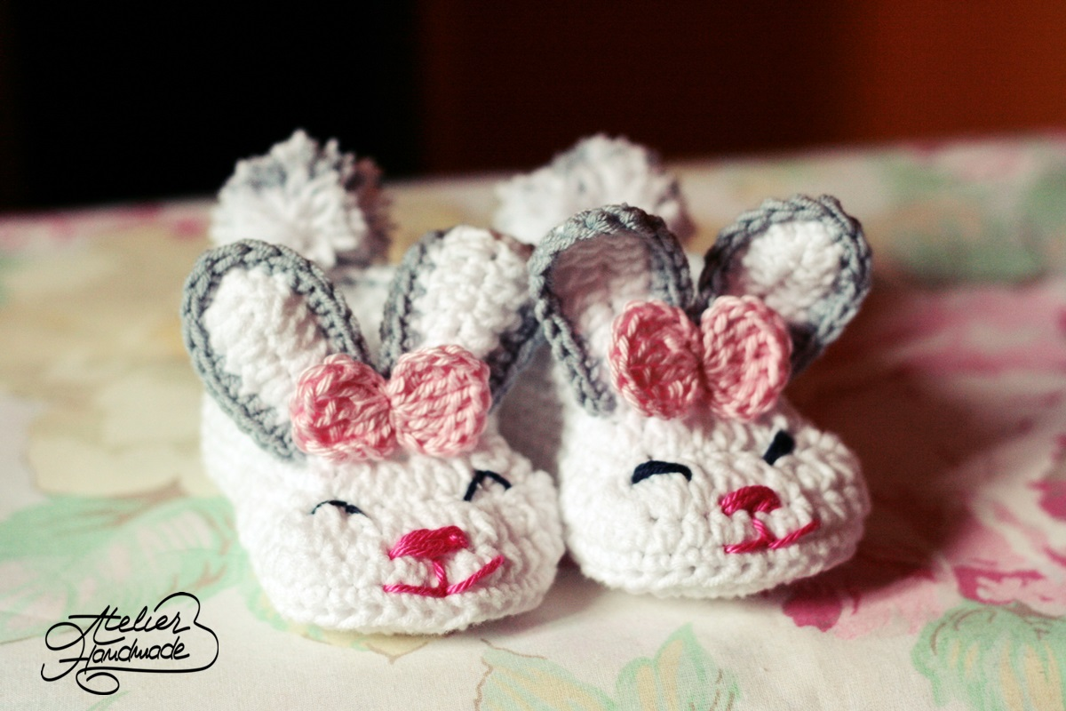 bunny crochet slippers