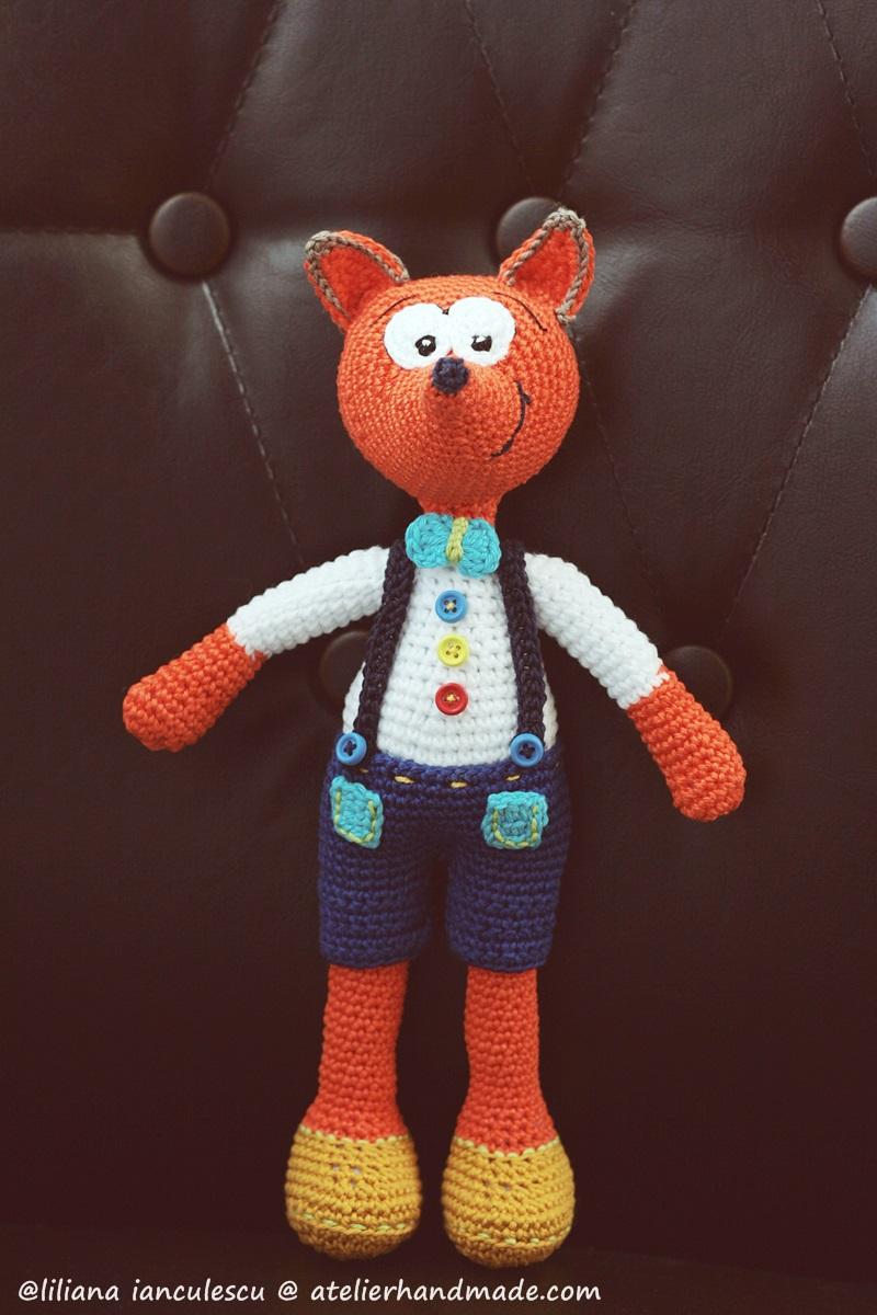 crochet fox amigurumi vasilik
