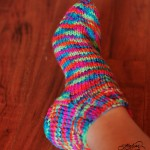 Șosete tricotate din fir DK / Knitted socks