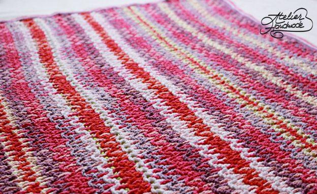 Woven crochet blanket – Patura crosetata pentru copii