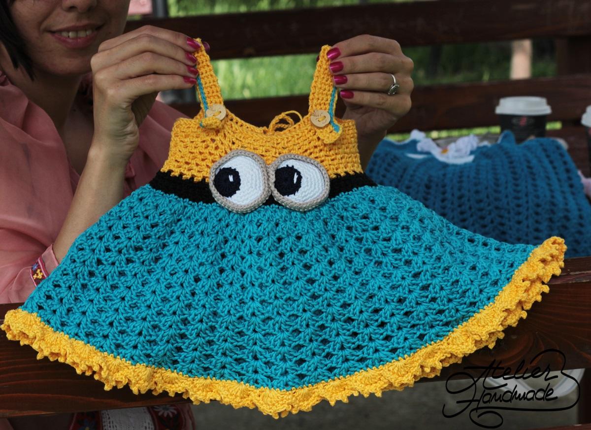 minion-crochet-dress