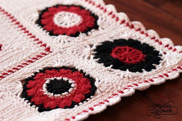 Crochet Blanket Romanian Motifs – Patura Crosetata