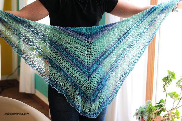 Knit Shawl – Glam Shells – Sal Tricotat