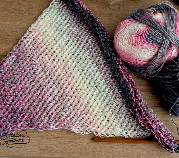 Crochet Tunisian Scarf – Eșarfă croșetată stil tunisian