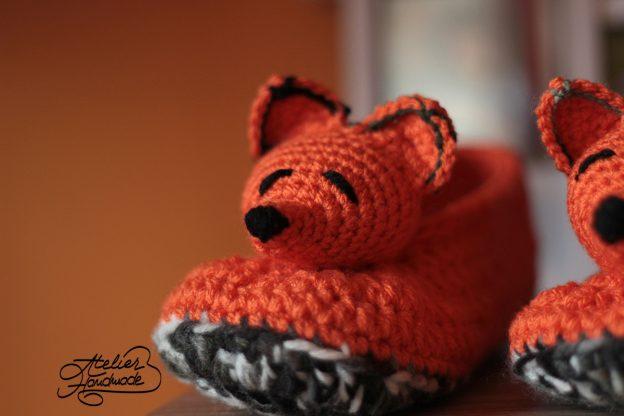 Crochet Slippers: Fox